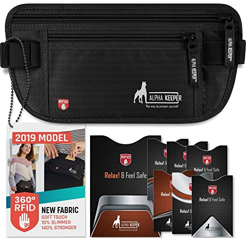 RFID Money Belt For Travel With RFID Blocking Sleeves Set For Daily Use (Best Backpack For Travel 2019)