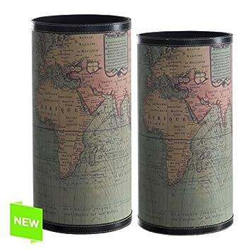 d\'casa Set 2 Porte-Parapluie Carte du Monde: Amazon.fr: Cuisine & Maison