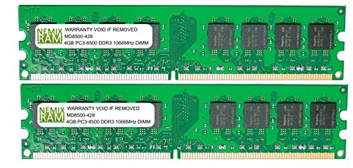 8GB (2 X 4GB) DDR3 1066MHz PC3-8500 240-pin Memory RAM DIMM for Desktop PC