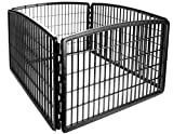 IRIS 4-Panel Pet Pen, Black Review