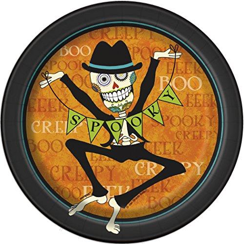 Day of the Dead Halloween Dessert Plates,