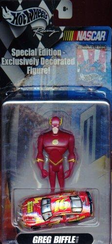 eague The Flash Action Figure with Greg Biffle Nascar Die-cast Car ()
