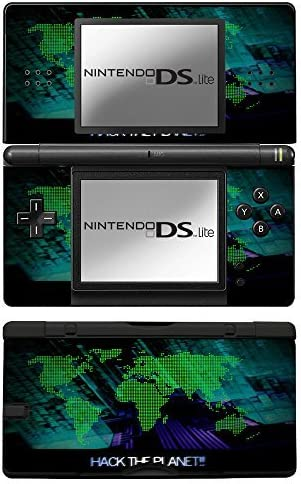 Hack the Planet, Skin Sticker Vinyl Cover with Leather Effect Laminate and Colorful Design for Nintendo DS Lite by Virano: Amazon.es: Videojuegos