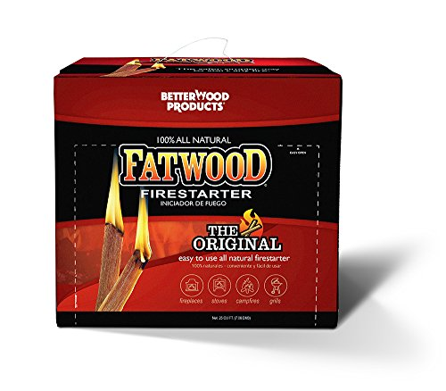 Better Wood Products Fatwood Firestarter Box, 10-Pounds -
