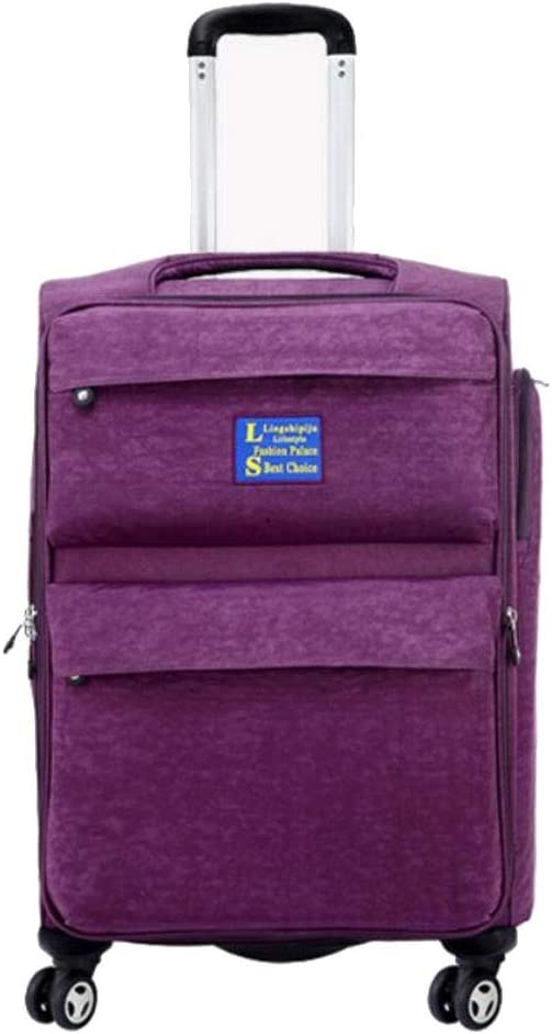 Color : Purple, Size : 26 Tingting 6 Sizes Trolley Case Luggage Suitcases Super Lightweight Durable Hold Travel Carry Travel Bags