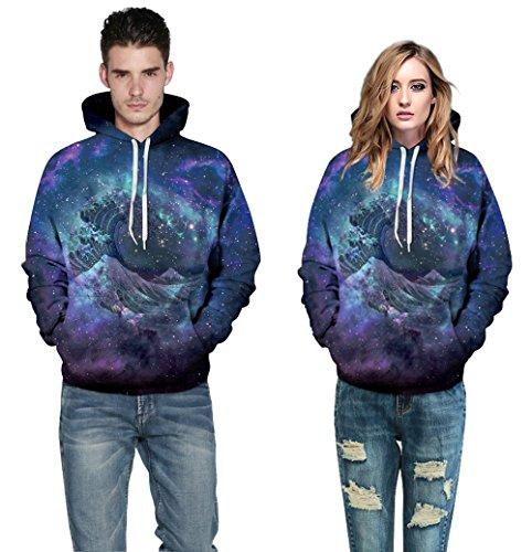 Colorfulworld Unisex Sudadera de con Capucha 3D Digital Print Sweatshirt Hoodies QYDM 109