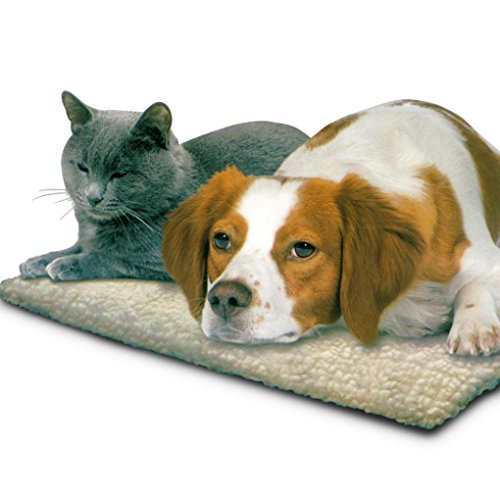vmree Pet House Bed, Self Heating Dog Cat Pet Bed Thermal Washable No Electric Blanket Required (White, 64cm x ()