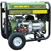 Sportsman GEN7000, 6000 Running Watts/7000 Starting Watts, Gas Powered Portable Generator