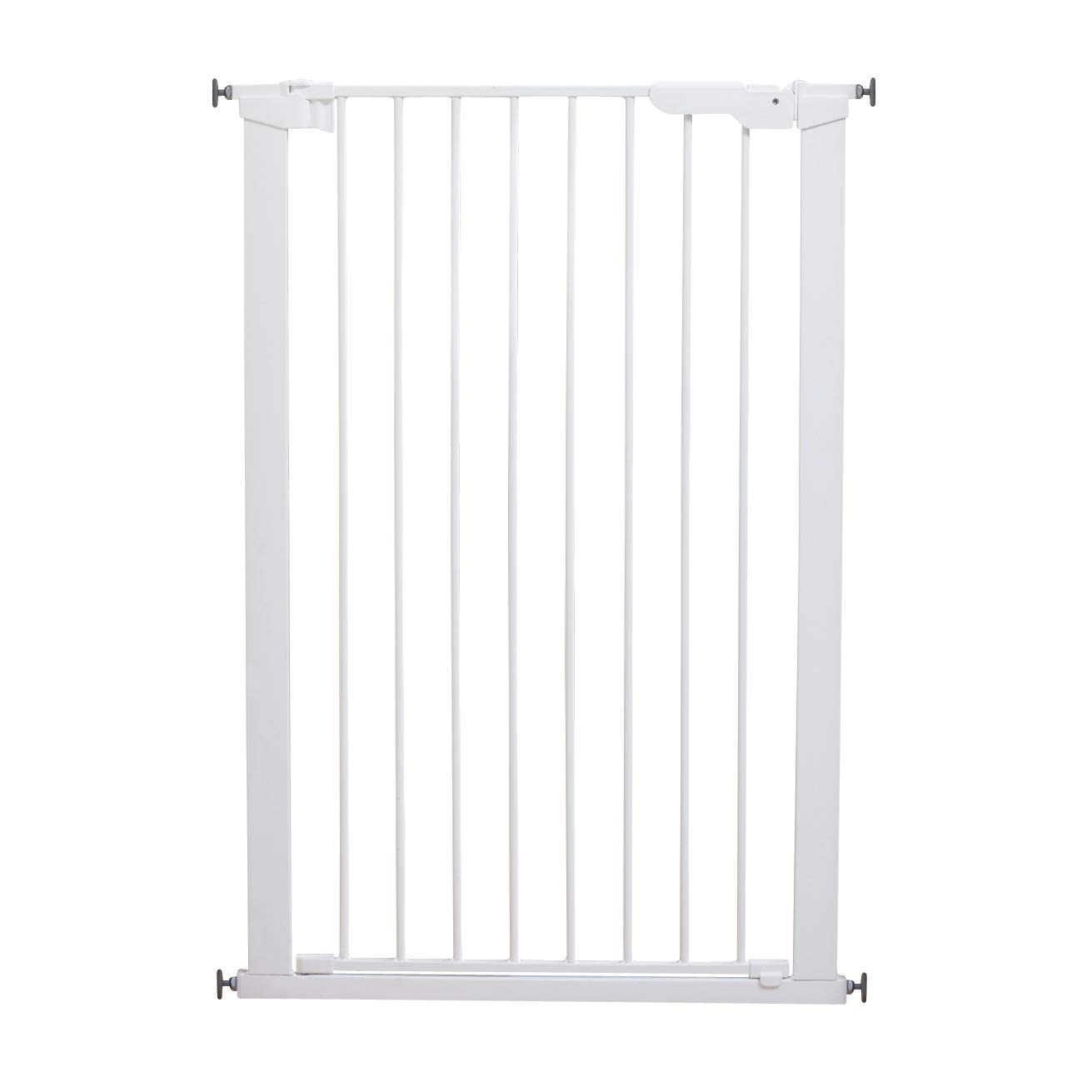"Scandinavian Pet Design Xtra Tall 31"" Pressure Mounted Animal Safety Gate for Small and Large Dogs, White"