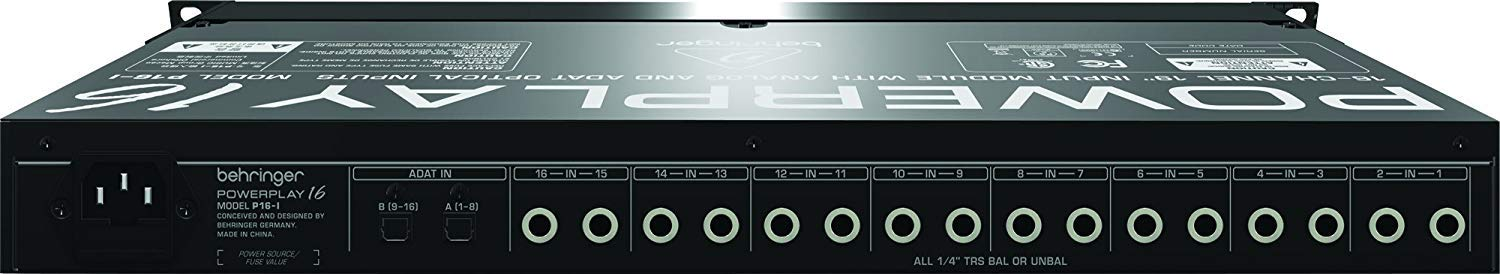 Behringer Powerplay P16-I 16-Channel 19'' Input Module with Microfiber and 1 Year Everything Music Extended Warranty by Behringer (Image #5)
