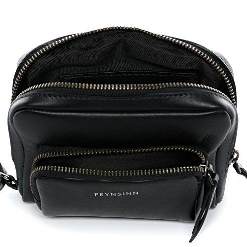 FEYNSINN borsa da polso JARA - borsa da uomo piccolo - borsa in cuoio vera pelle nero