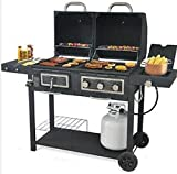USA Premium Store Backyard Grill Dual Gas Charcoal Grill Burner BBQ Outdoor Propane Cooking