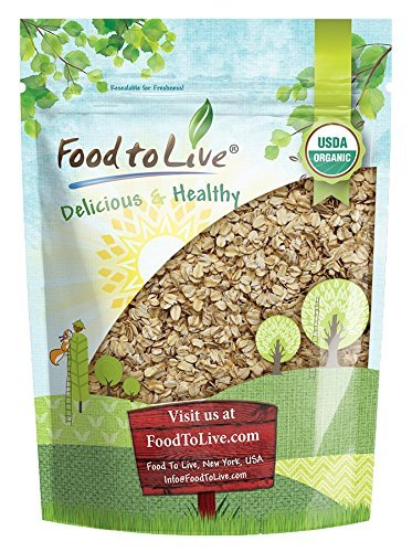(Organic Rolled Oats Food to Live (Old-Fashioned, 100% Whole Grain, Non-GMO, Kosher, Bulk, Product of the USA) - 2 Pounds)