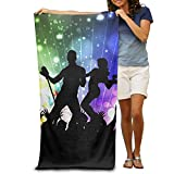Super Absorbent Beach Towel Musical Dance Party Polyester Velvet Beach Towels 31.551.2 Inch