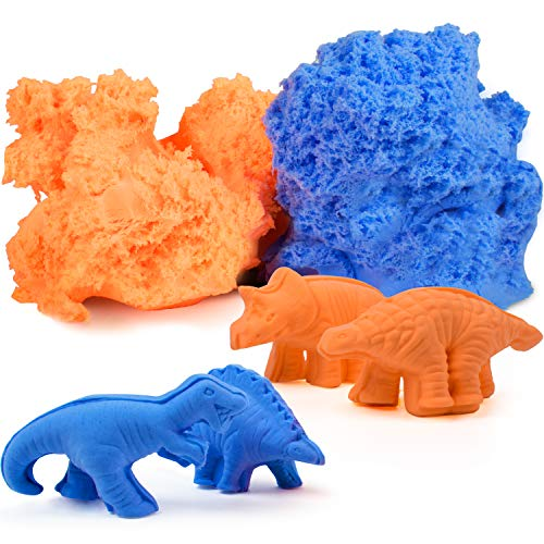 USA Toyz Kids Modeling Clay Sensory Sand - Fluffy Molding Modeling Clay for Kids with 4 Dinosaur Sand Molds