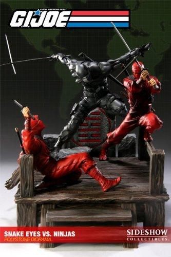Sideshow Gi Joe Snake Eyes Vs. Red Ninjas Exclusive Diorama
