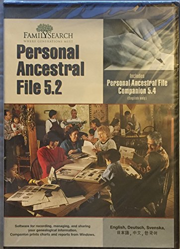 Personal Ancestral File 5.2 (Includes Personal Ancestral File Companion - File Include