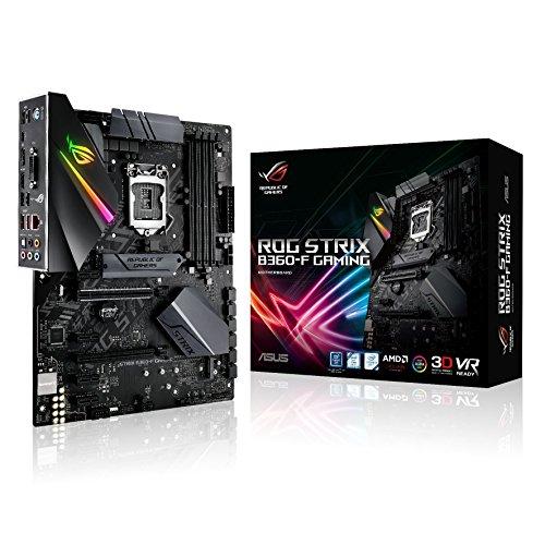 Asus Rog Strix B360-F Gaming Mainboard Sockel 1151 (ATX, Intel B360, DDR4 Speicher, duales M.2, integrierter M.2-Kühler, 6Gbit/s SATA, USB 3.1 Gen 2, Aura Sync)