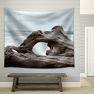 Old Giant Tree Root on The Sea Shore Fabric Wall Medium