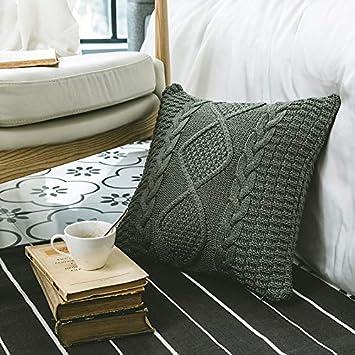 Amazon.com: NVEOP Funda de almohada de punto suave y ...