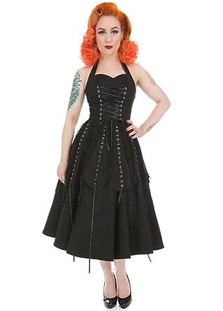 Hr London Pretty Pirate Long Gothic Plus Size Dress Size 26 Amazon