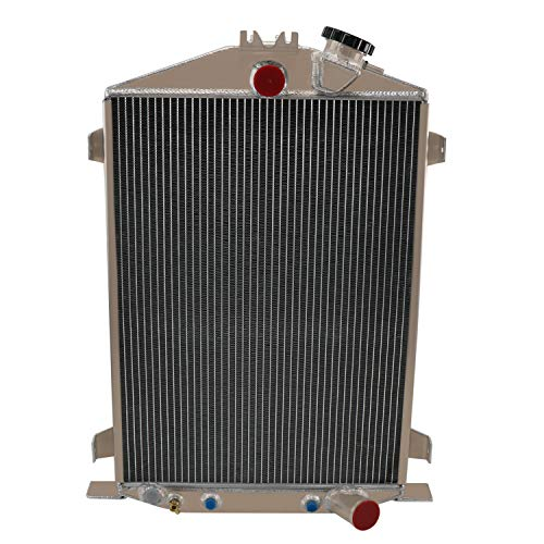 ALLOYWORKS New 4 Row Aluminum Radiator Fits 1932 Ford High Boy Street Rat Rod Tank 32