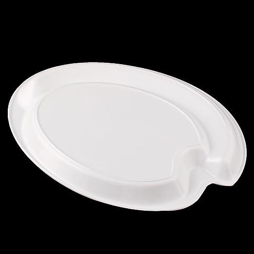 Amazon.com: DealMux Plastic alunos do ensino médio Artist palette pintura placa bandeja branca: Home & Kitchen