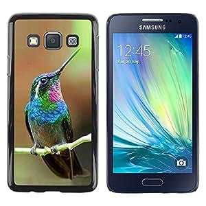 """For Samsung Galaxy A3 Case , Colibrí minúsculo lindo Tropical Exótico"""" - Diseño Patrón Teléfono Caso Cubierta Case Bumper Duro Protección Case Cover Funda"""