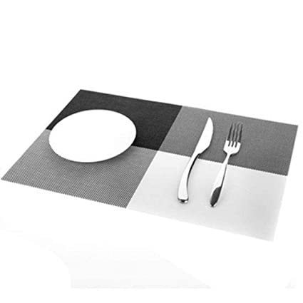 Amazon.com: Hakazhi Inc 3045Cm 4 Pcs/Set Placemats PVC Table Mat ...