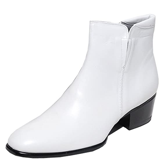 1960s Men's Clothing, 70s Men's Fashion Epicsnob Mens Shoes Genuine Cow Leather Dress Formal Casual Classic Ankle Boots $97.90 AT vintagedancer.com