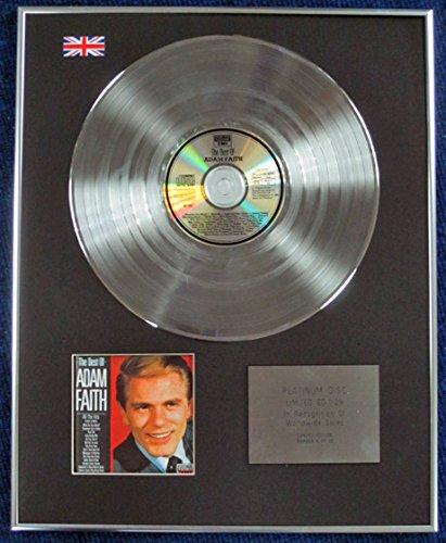 ADAM FAITH - Limited Edition CD Platinum Disc - THE BEST OF by CenturyMusic