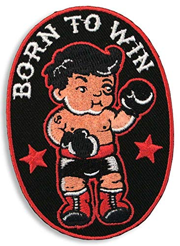 Born to Win Embroidered Patch by Trixie & Milo - Iron on - boxing - little fighter