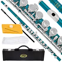 120-SB - SEA BLUE/NICKEL Keys Closed C Flute Lazarro+Pro Case,Care Kit - 22 COLORS Available ! CLICK on LISTING to SEE All Colors