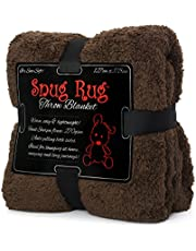 Snug Rug Special Edition Luxury Sherpa Fleece Throw Blanket, Sand Beige, Polyester Single