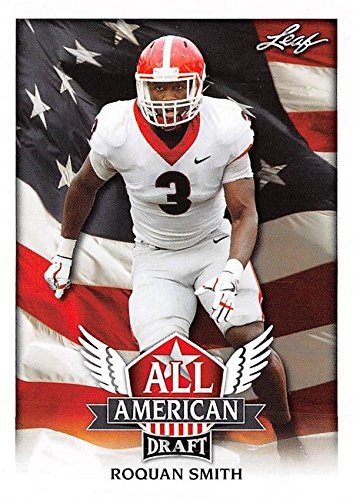 Roquan Smith Football Card (Georgia Bulldogs, Chicago Bears) 2018 Leaf Draft All American #AA12 Rookie by...