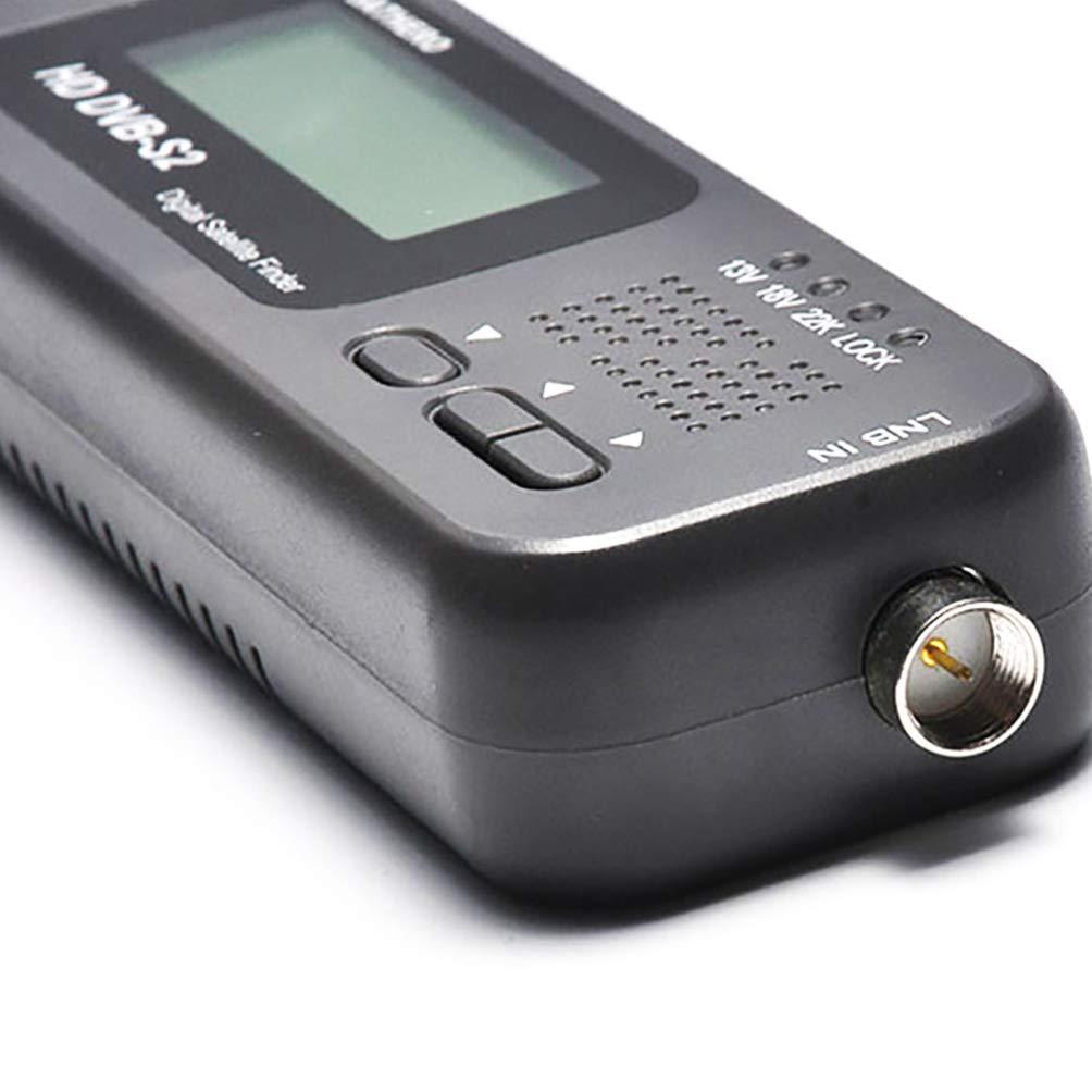 ULTECHNOVO Digital Satellite Finder TV Satellite Finder Signal Receiver for Campers Outdoor Without Battery Black