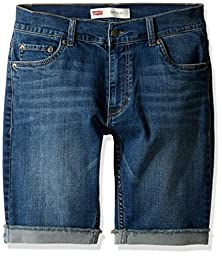 Levi\'s Big Boys\' 511 Slim Fit Cuffed Denim Shorts, Vintage Falls, 10