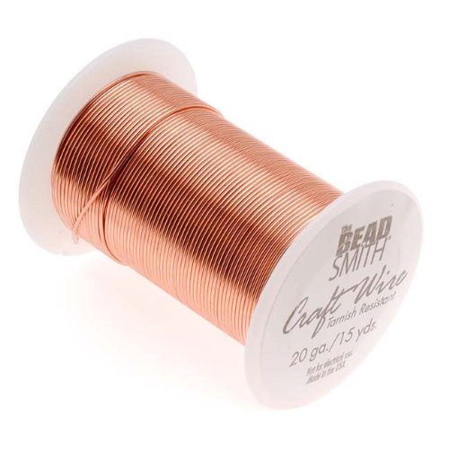 Tarnish Resistant Bright Copper Wire 20 Gauge 15 Yards (13.5 Meters)