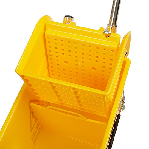 Mind Reader Commercial Mop Bucket - with Down Press Wringer - 22 Quart Capacity - Yellow by Mind Reader (Image #3)
