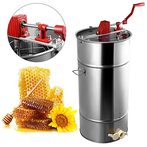 Goplus Large 2 Frame Stainless Steel Honey Extractor Beekeeping Equipment New by Goplus (Image #1)