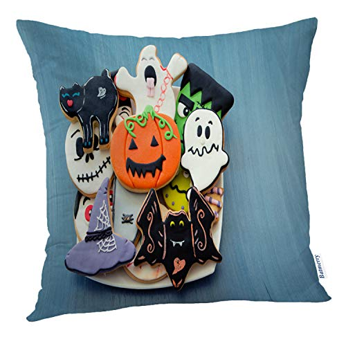 Batmerry Halloween Pillow Covers 18x18 inch,Halloween Cookies Sweet