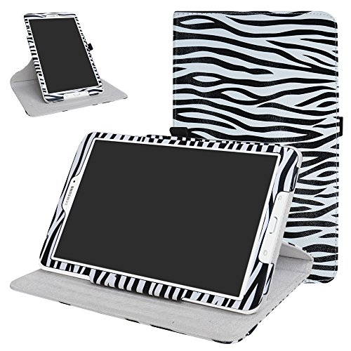 Galaxy Tab E 9.6 Rotating Case,Mama Mouth 360 Degree Rotary Stand with Cute Cover for Samsung Galaxy Tab E 9.6 / E Nook 9.6 Inch T560 T561 T567 Verizon 4G LTE,Zebra Black