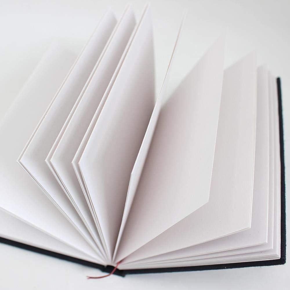 A3 Querformat x 12 mit gebundenem Hartcover 150 g//m/² Handgefertigtes Skizzenbuch Artway Indigo