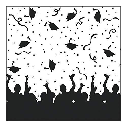 Fun Express - We Did It! Graduation Backdrop Banner for Graduation - Party Decor - Wall Decor - Preprinted Backdrops - Graduation - 1 Piece]()