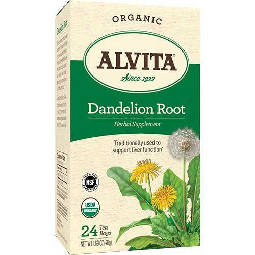 Organic Dandelion Root Tea Bags - Alvita Dandelion Root Tea Bag, Organic, 24 Count (3 Pack)