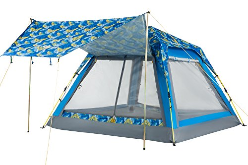 KingCamp Quick Up 3-4 Person Screen House Leisure Beach Tent
