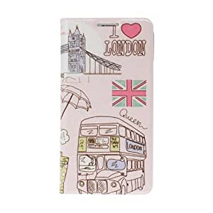 Diebell-- London Bus and Big Ben Pattern Full Body Leather Case with Stand for Samsung Galaxy S5 i9600