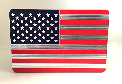 AMERICAN FLAG TRAILER HITCH COVER RED AND BLUE