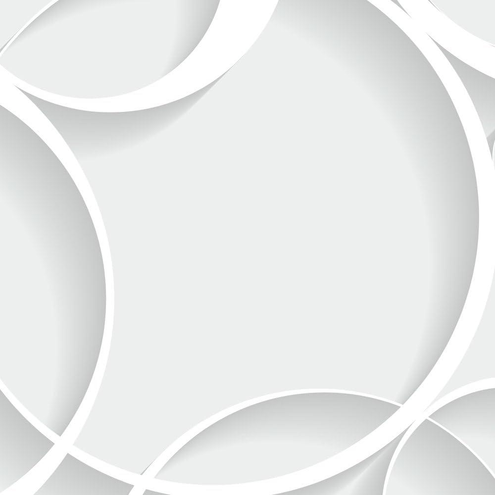 murando Carta da parati adesiva 10 m Stickers Murali Carta da parati moderna Fotomurali adesivi Carta da parati autoadesiva Fotomurale Stickers da muro geometrico grigio Circles f-B-0181-j-a