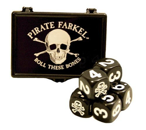 Legendary Games Pirate Flat Pack Farkel Toys and Games Dice, Black (Pirates Dice Game)
